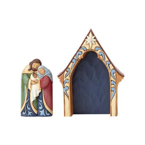 2pc Creche & Mini Holy Family: Jim Shore