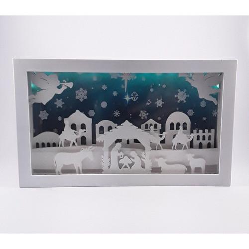 Musical Nativity Scene: Light-Up 25cm x 15cm