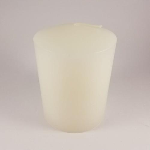 Candle: Pillar White - 75 x 100mm - Peak Top