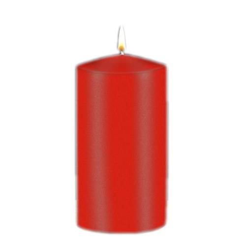 Candle: Pillar Red - 75 x 150mm - Peak Top