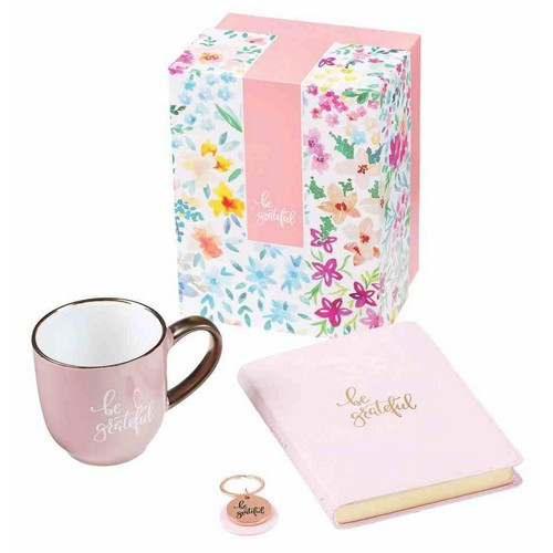 Boxed Gift Set: Be Grateful Pink