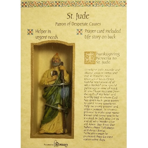 Boxed Statue with prayer card:  St Jude