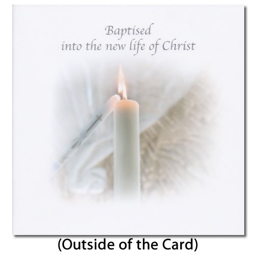 Card: Baptised Into the New Life of Christ - Flame