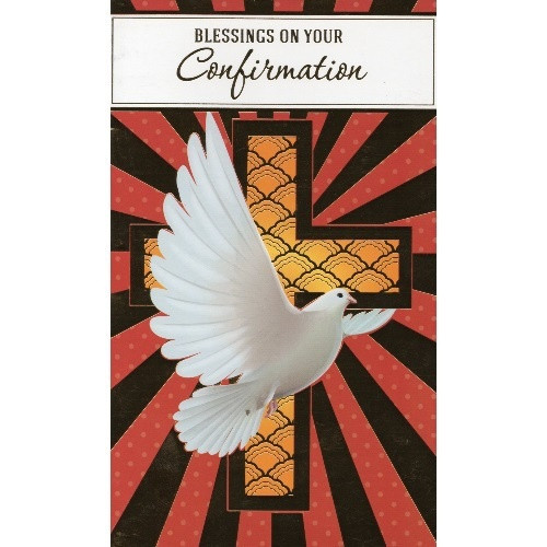 Card: Blessings On Your Confirmation - Red and Gold