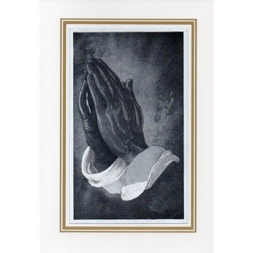 Card: First Communion - Praying Hands Foil