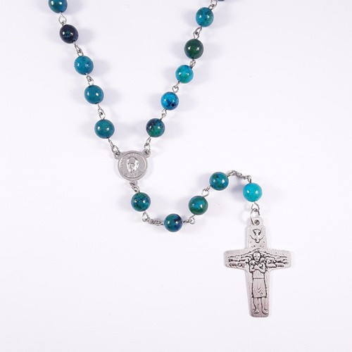 Rosary: Blue Teal Beads