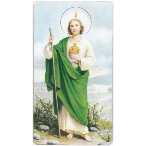 Holy Picture: St Jude - 5.5cm x 10cm