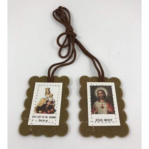 Scapular: Brown With Leaflet