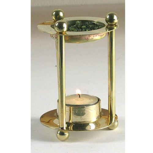 Incense Burner - with Grate and Votive Candle