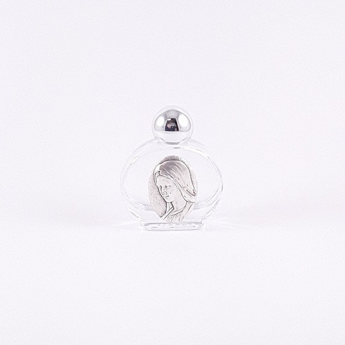 Glass Holy Water Bottle: Our Lady