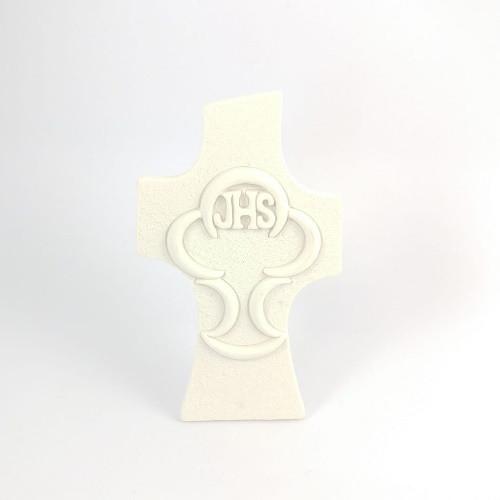 Cross: Communion Chalice - 10cm White Resin