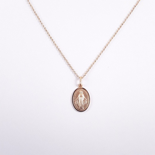 9ct Gold Miraculous Medal 16mm