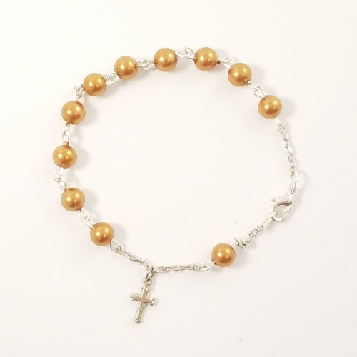 Rosary Bracelet 1 Decade - Glass Pearl SP 6mm