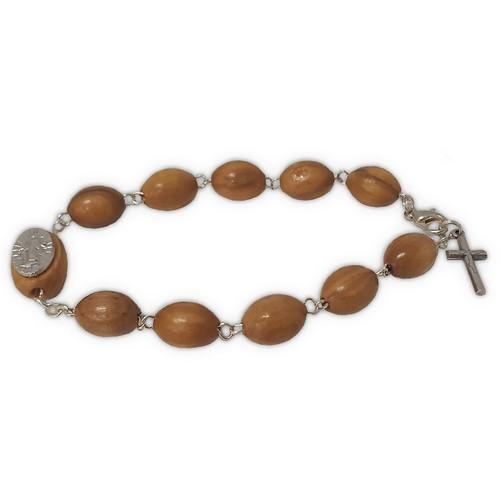 Rosary Bracelet: Miraculous Wood