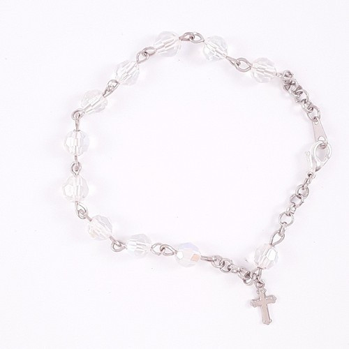 Rosary Bracelet - Crystal Clear 7mm