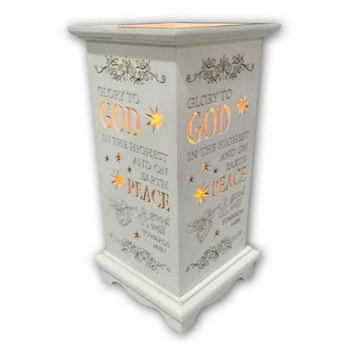 Lantern with LED Candle - Glory To God