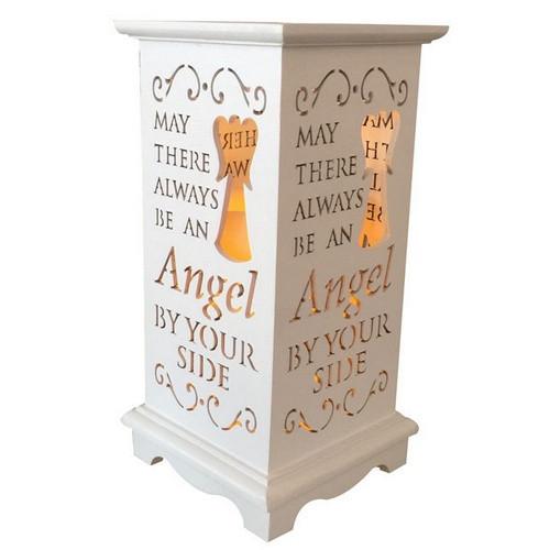 Lantern with LED Candle - Angel By Your Side