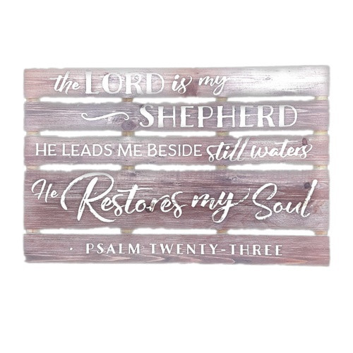 Large Pallet Sign: The Lord is my Shepherd