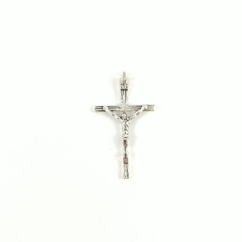 Crucifix Finding: Antique Look Silver Plated 4.5cm