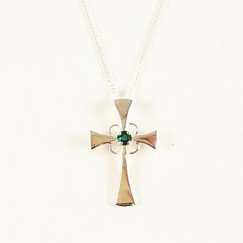 Sterling Silver Biron Cross Pendant