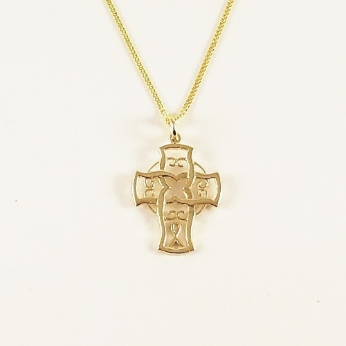 9ct Gold Unset Cross Pendant