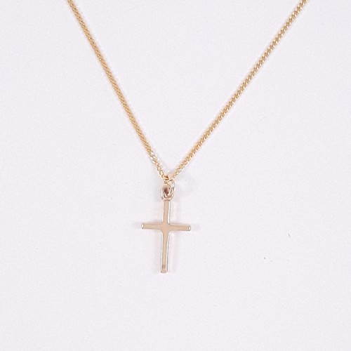 9ct Gold Cross Pendant - Small 1.5cm