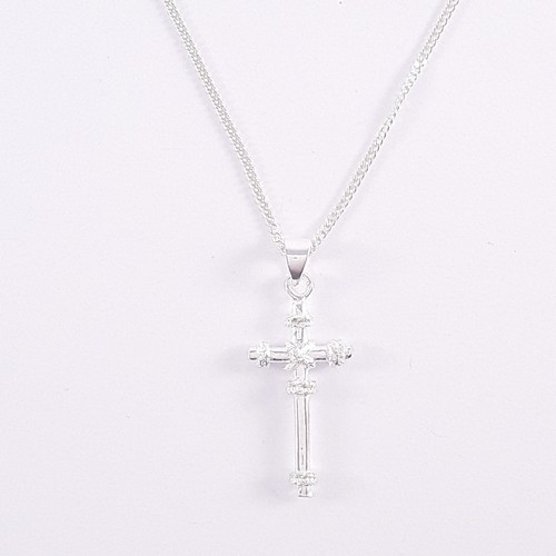 Sterling Silver Cross with Knotted Detail