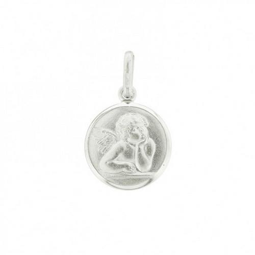 Cherub Angel Pendant: Sterling Silver 12mm