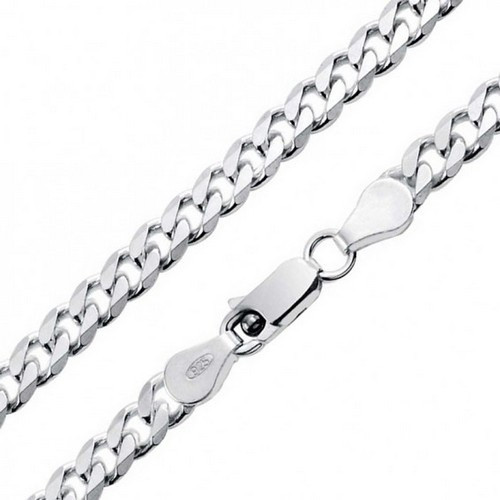 Sterling Silver Chain - CS120/55 Curb Heavy