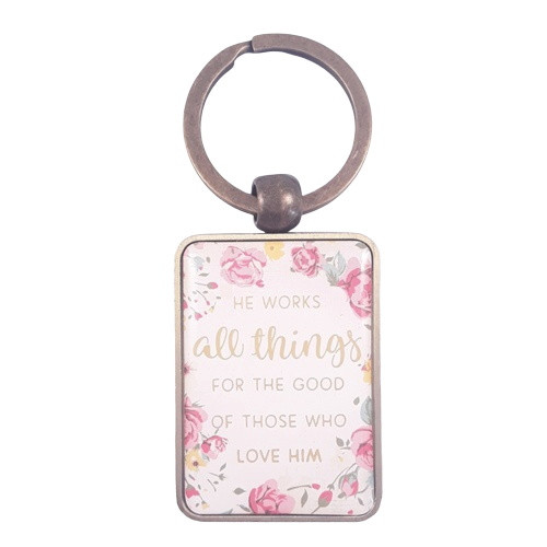 Keyring in Tin:  He Works All Things
