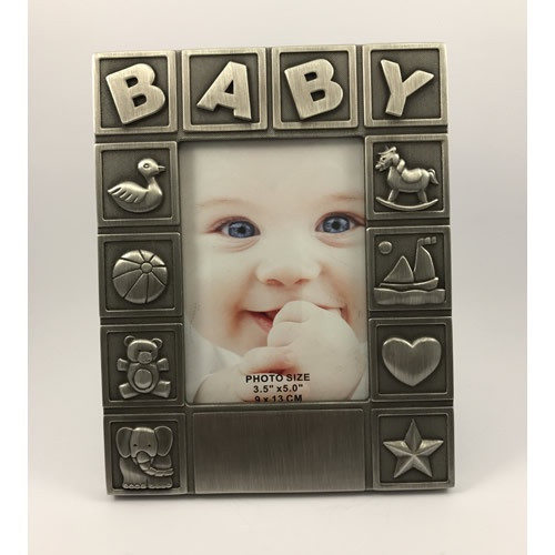 Picture Frame: Baby ABC - Pewter