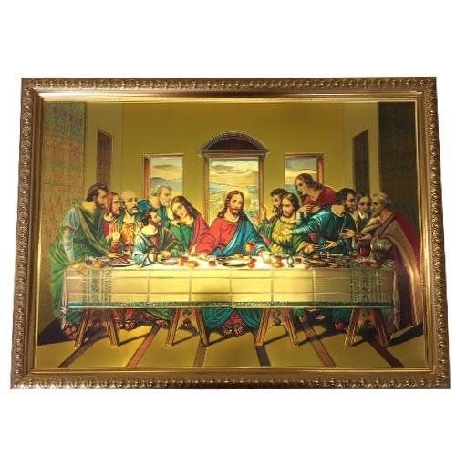 Gold Foil Framed Last Supper - 40cm x 30cm