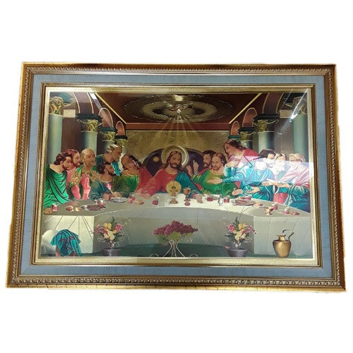 Framed Pictures: Last Supper Xlge Gold Foil