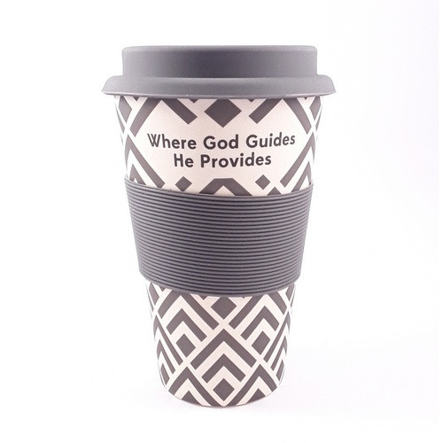 Bamboo Travel Cup: Where God Guides He Provides