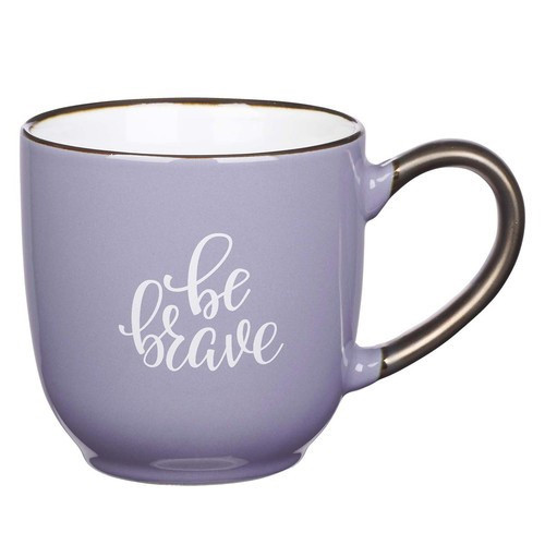 Mug: Be Brave Purple