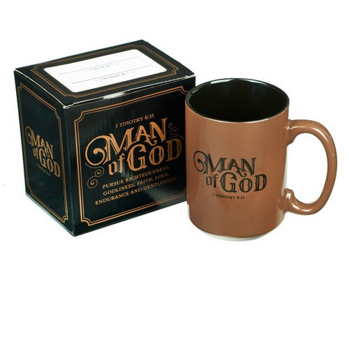 Mug: Man of God - Brown and Black