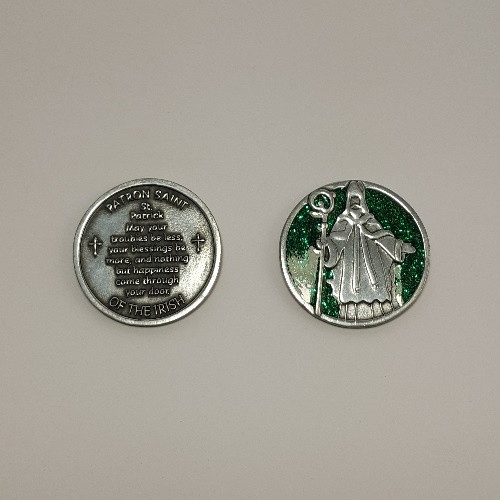 Glitter Pocket Token: St Patrick