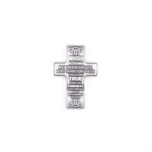 Metal Pocket Cross: Irish Blessing