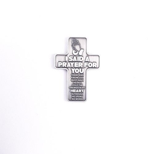 Metal Pocket Cross: I Said a Prayer for You
