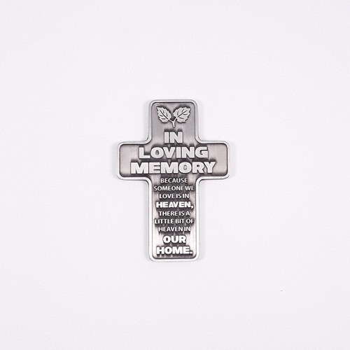 Metal Pocket Cross: In Loving Memory