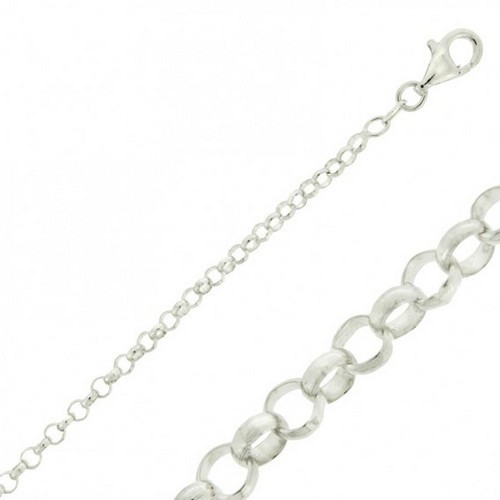Sterling Silver Bracelet - Belcher 4.2gms