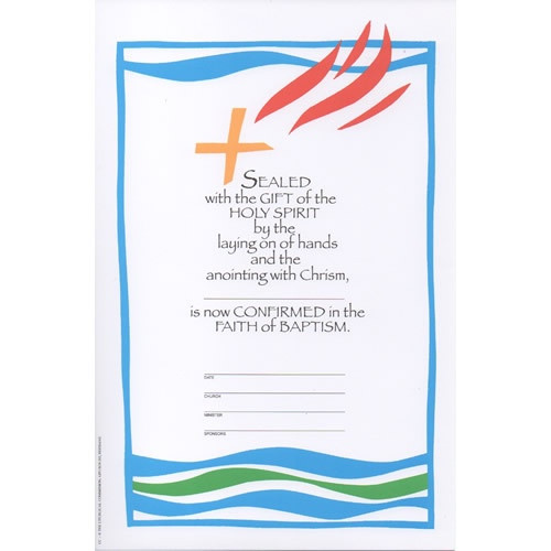 Certificate: Confirmation - Blue and White