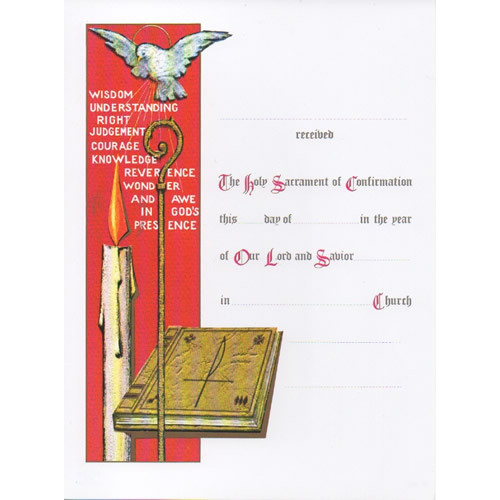 Certificate: Confirmation - Small Red