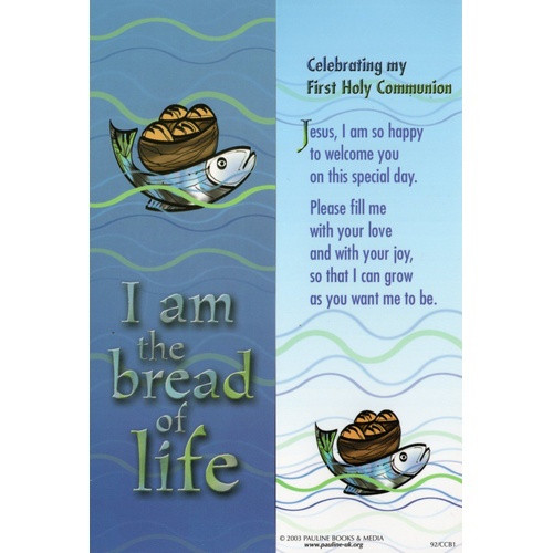 Bookmark: First Holy Communion - Bread of Life