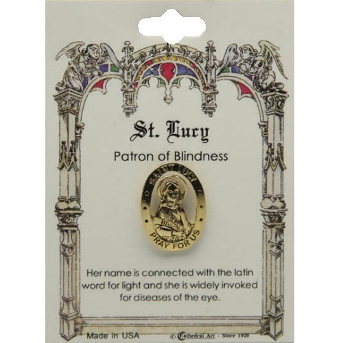 St Lucy Lapel Pin