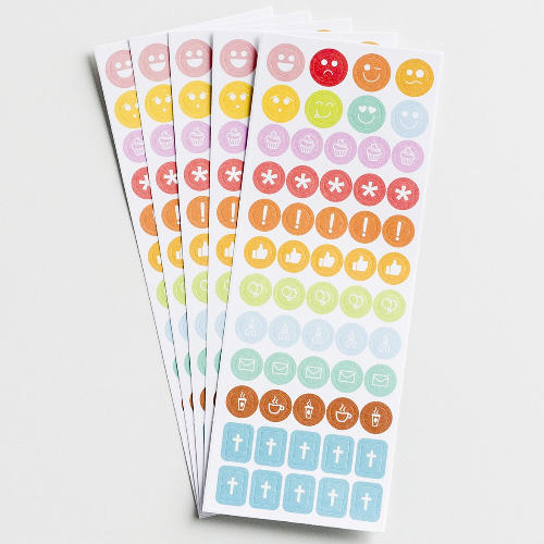 Planner Stickers: Colourful Icons