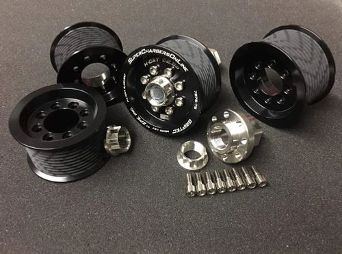 GripTec V2 Hellcat/Demon Supercharger Pulley Kit (2015+ Charger/Challenger Hellcat/Demon/Trackhawk)
