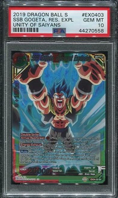 PSA 10 SSB Gogeta, Resonant Explosion - EX04-03 - Expansion Rare Foil - Unity of Saiyans Dragon Ball Super Card