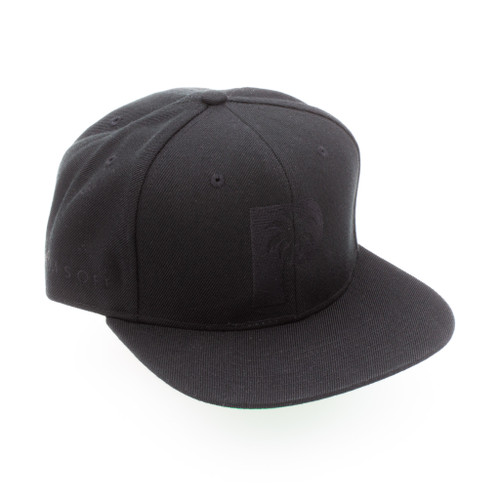Palms Off Gaming Snapback Hat – Blackline