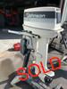 """1986 Johnson 30 HP 2 Cylinder Carbureted 2 Stroke 20"""" (L) Tiller Outboard Motor"""
